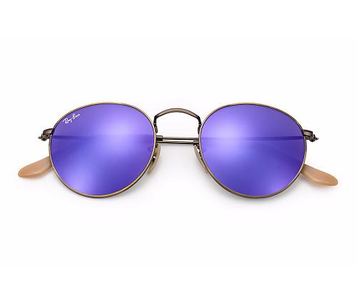 ada3db5b6 Óculos de Sol Femininos : Ray Ban Round Metal Lentes Espelhadas RB3447