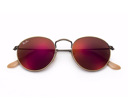 1bb2147875194 Óculos de Sol Femininos   Ray Ban Round Metal Lentes Espelhadas RB3447