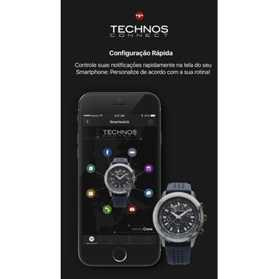 bd70cbefb1b73 Relógios de Pulso Masculinos   Technos Connect 2.0 - 735 ab